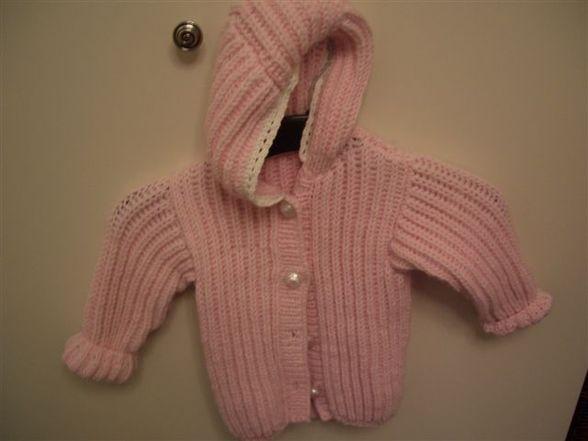 Jackerl rosa mit Kaputze