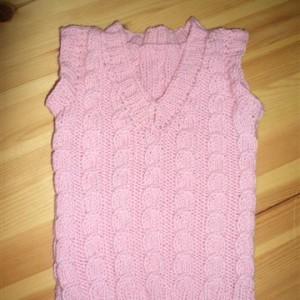 Zopf-Pullunder rosa