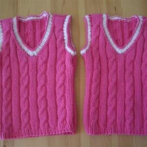 Zwillings-Pullunder pink
