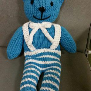 Teddy türkis mit Hose und Hosenträger