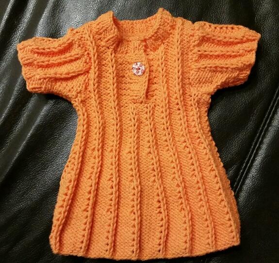 Kleidchen Baby orange